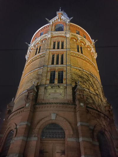 Water Tower in 10th district in Vienna Austria, 11.12.2017 Favoriten Vienna Architecture Building Exterior Built Structure History Low Angle View Night No People Outdoors Place Of Worship Religion Sky Spirituality Travel Destinations Water Tower - Storage Tank Wien