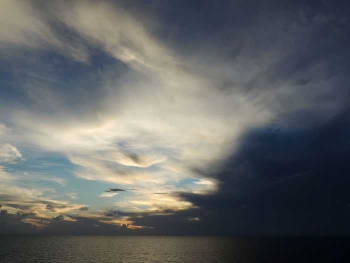 Somwhere in the ocean!! Cloud - Sky Water Horizon Over Water Dramatic Sky Outdoors No People Nature Sunset Sky Beauty In Nature Blue Sea Vacation Exploration EyeEm Selects Nikonphotography Nikonnofilter