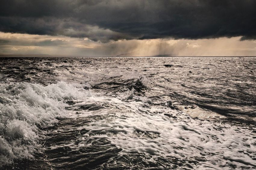 Weather Rain Clouds Seascape Waves Wind Skye Scotland Cloud - Sky Sky Beauty In Nature Scenics - Nature Nature Water Sea Wave Horizon Motion Power In Nature