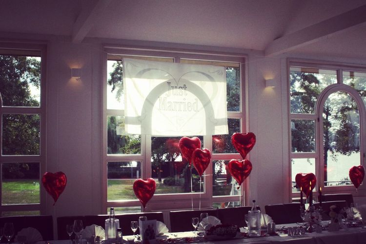 #Steinhude Wedding Wedding Photography Red Color Balloons Wedding Day Beautiful Flower Tree Window