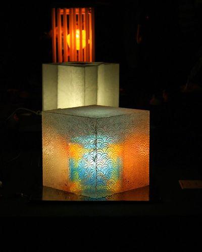 和紙の灯り作品展 美濃和紙あかりアート