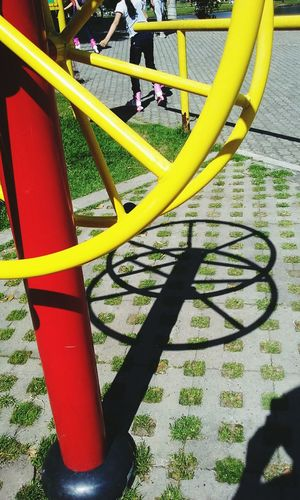 Minimalist Architecture Geomatric Shapes Park Outdoor Play Equipment Yellow