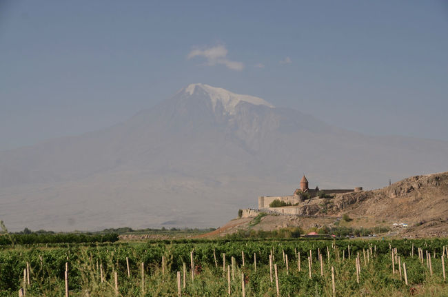 Ararat Mountain🗻🗻 Armenia Monastery Chor Virap September Ararat  Ararat Mountain Architecture Beauty In Nature Day Field Grass Landscape Mountain Mountain Range Nature No People Oriental Orthodox Church Outdoors Scenics Sky Tranquil Scene Tranquility W-armenien