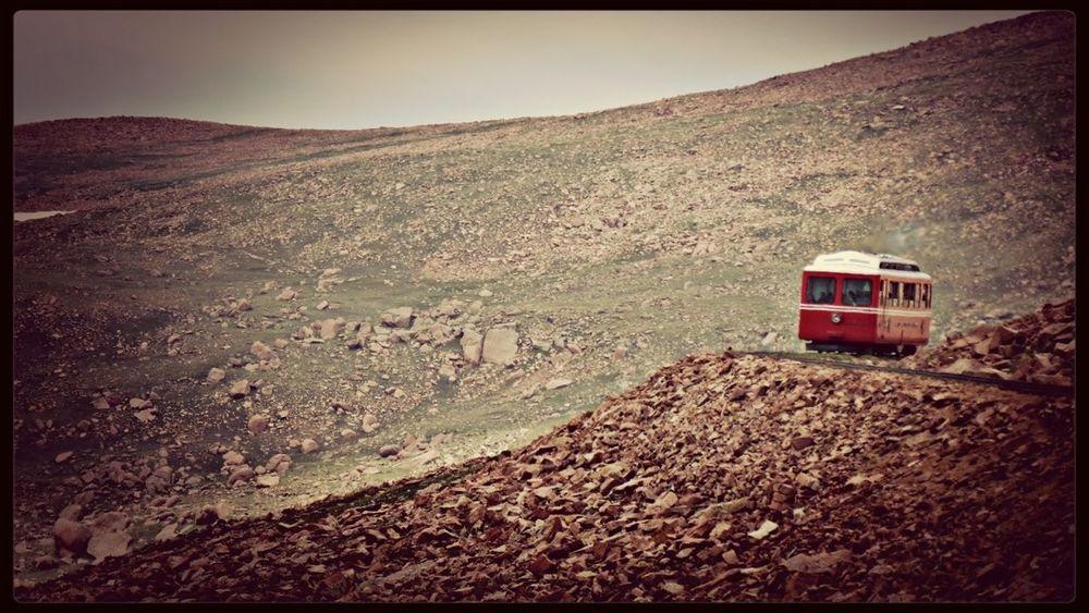 Cog Train coning down Pike's Peak Pikes Peak Train Rocky Mountains EyeEm Best Shots - Landscape