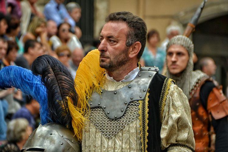 Day Sulmona Abruzzo - Italy Giostra Cavalleresca Sulmona Hystorical Hystory Ancient City Corteo Storico Capitain Sestiere Di Porta Filiamabili