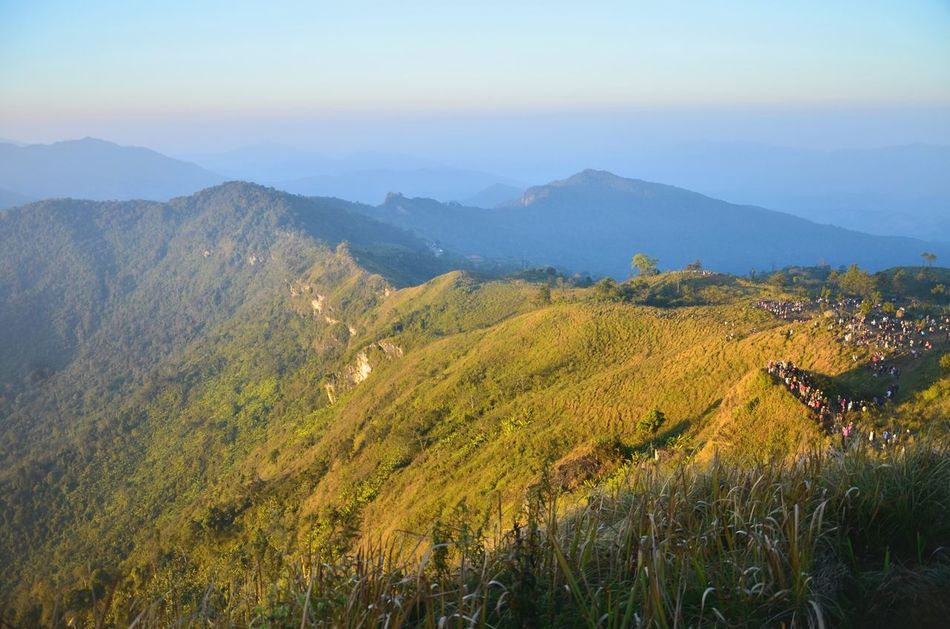 Mountain viewThe Journey Is The Destination Beauty In Nature Travel Adventure Mountains Mountain View Mountains And Sky Way Journey Happy Landscape Medow Amezing Thailand Beautiful Refresh Nature Up Mountain Misty Clouds Coulds And Sky Hill Phu Ci Fa Far Festival Season