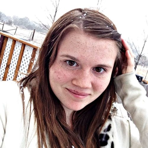 Self Potrait it's snowing!