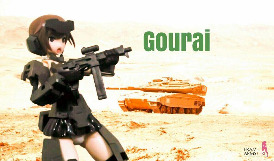 Gourai Frame Arms Girl Robot Mecha Desert Tank Actionfigures