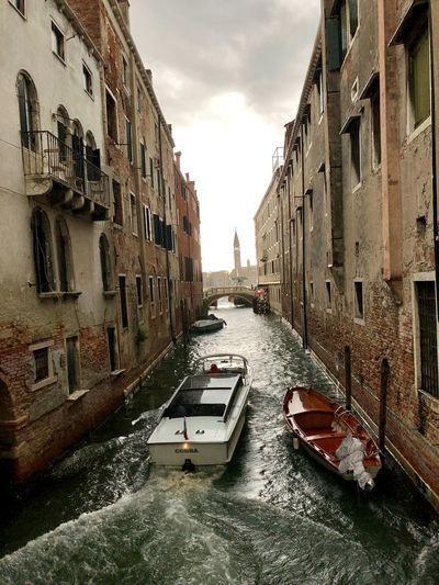 Venice... Building Exterior Built Structure Architecture City Building Sky Mode Of Transportation Nautical Vessel Transportation No People Nature Diminishing Perspective Cloud - Sky Canal Day Water Street Residential District Outdoors Alley