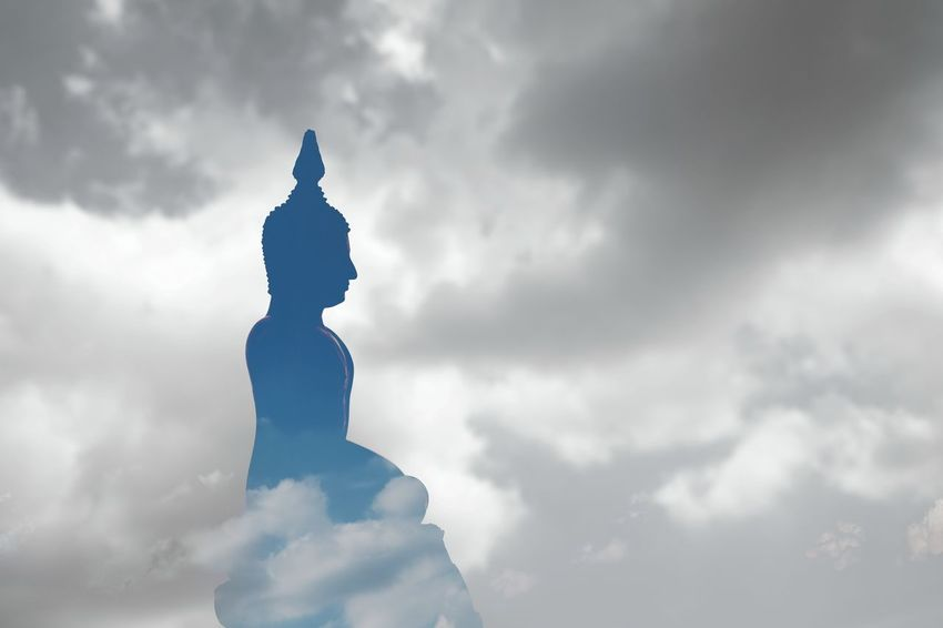 MakhaBuchaDay Thailand Temple Riligion Makhabucha Sunlight Visakha Puja Day Visakha Bucha Day Buddhist Temple Buddhist Temple In Thailand Budhist Buddha Statue Thailand Traditional Buddhist Culture Cloud - Sky Clouds And Sky Cloud Silhouette
