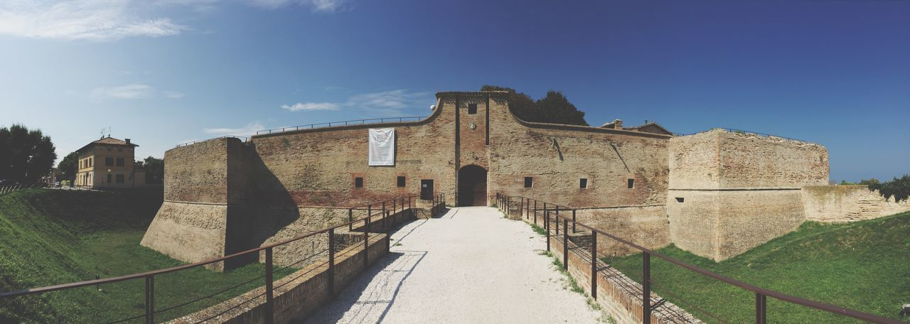 Italy Malatesta Castle Rocca Architecture Built Structure Building Exterior Sky Nature Sunlight History Old The Past Travel Tourism Travel Destinations