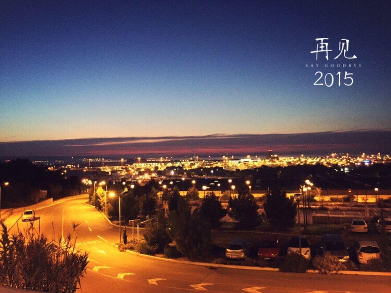 illuminated, transportation, road, outdoors, car, no people, night, blue, tree, clear sky, city, nature, sky