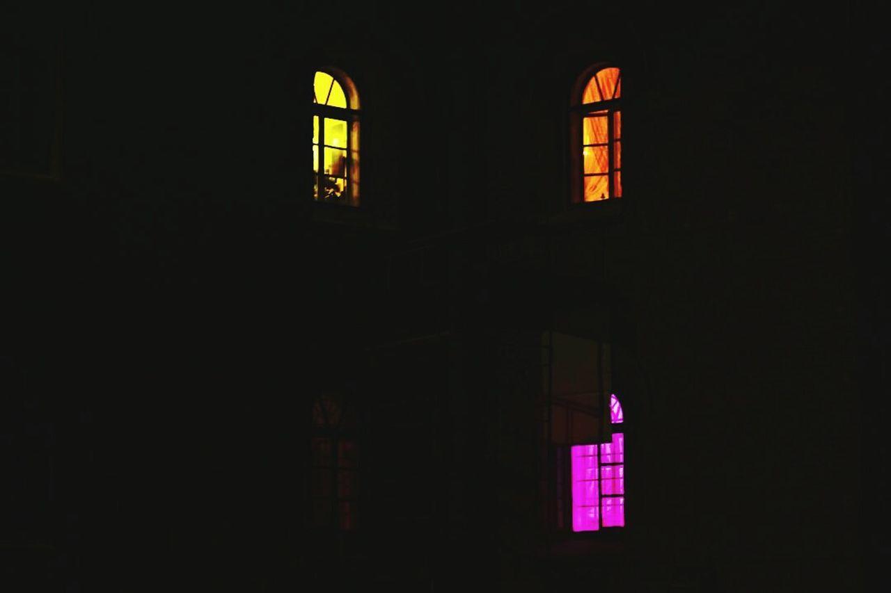 ILLUMINATED HOUSE WINDOW