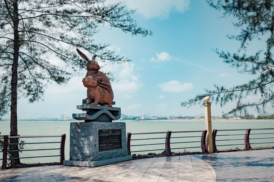 Chinese Zodiac at Batam Island Batam Island, Indonesia. Rabbits 🐇 Blue Green  Bluish Sky Chinese Day Muted Colors No People Outdoors Rooster Sculpture Sculptures Sky Statue Travel Destinations Tree Zodiac Photography The Week On EyeEm