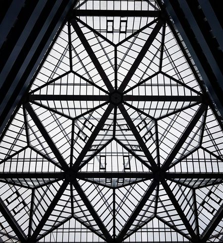 Pattern Built Structure Architecture Indoors  Montreuil  Paris, France