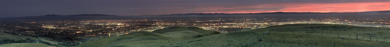 Silicon valley aerial panorama via sierra vista open space preserve. santa clara county, ca.