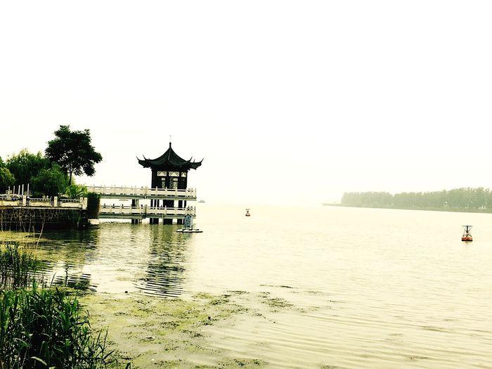 烟雨中的淮河 First Eyeem Photo