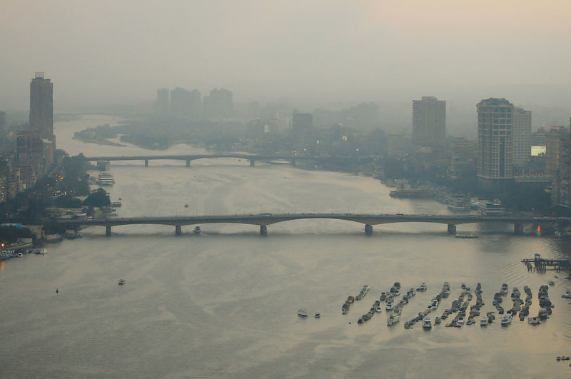 The Nile at Dusk - Cairo - Egypt Cairo Cityscape Egypt The Nile River Architecture Bridge - Man Made Structure Built Structure City Smog