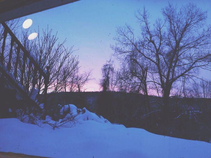 From my room. Taking Photos Snow Eyemnaturelover Sunset