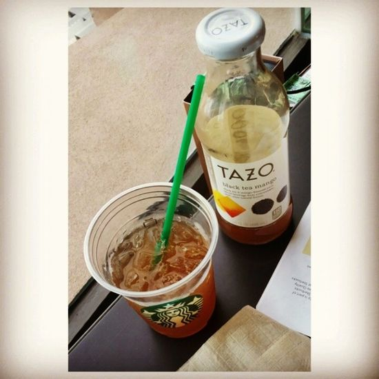 Blissful sipping. Tazo Blackteamango Bebeloves Starbucks happyafternoon @oninramonal