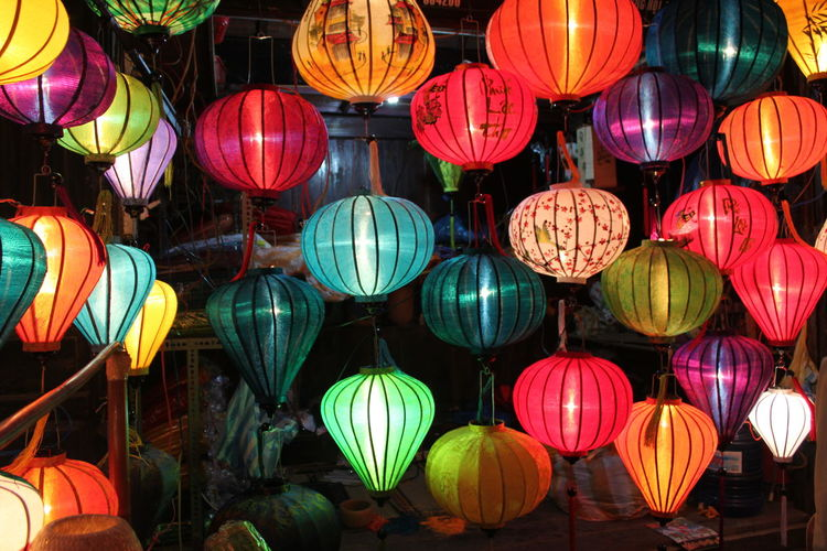 Abundance Celebration Chinese Lantern Chinese Lantern Festival Chinese New Year Choice Decoration Festival Hanging Holiday Illuminated In A Row Lantern Large Group Of Objects Lighting Equipment Low Angle View Multi Colored Night No People Outdoors Traditional Festival Variation