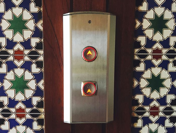 Minimalism Hotel Interior At The Hotel Button Down Button Up Lift Lift Style Travelphotography Travel And Tourism Minimalismphotography Minimalism Pattern No People Indoors  Shape Design Safety Full Frame Communication Built Structure Decoration Door Floral Pattern