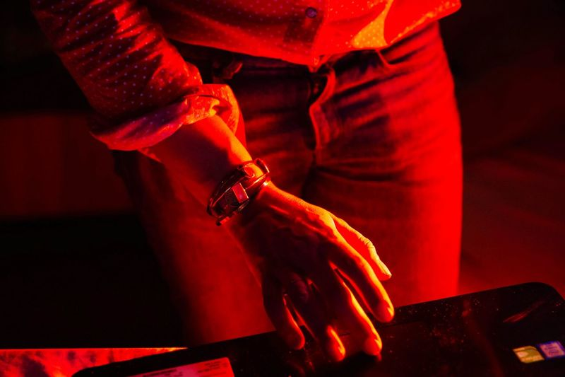 Red Color Women women around the world Women Of EyeEm Portrait Portrait Of A Woman Hand Technology Light And Shadow Nikon Nikonphotography Eyemphotography Eyem Best Shots Eyem EyeEmNewHere Metal Industry Human Hand Red Midsection Close-up Exploring Fun