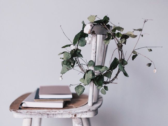 Nature Nature In The Home Wreath Vintage Chair Plant Autumn StillLifePhotography Lifestyle Photography Fresh On Market 2016