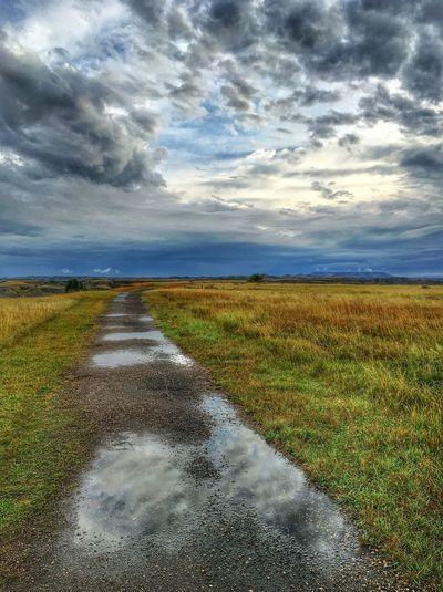 Inspiration Point Cloud - Sky Landscape Nature Sky Beauty In Nature North Dakota Theodore Roosevelt National Park North Dakota Badlands