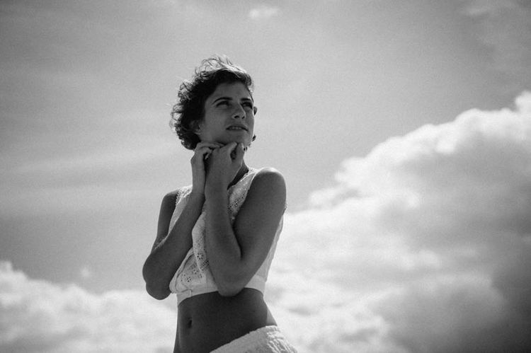 Beach Beautiful Woman Beauty Black & White Blackandwhite Blackandwhite Photography Cloud - Sky Day Dreaming Dreamy Gaze One Person One Woman Only Outdoor Outdoors Outdoors Photograpghy  Sky