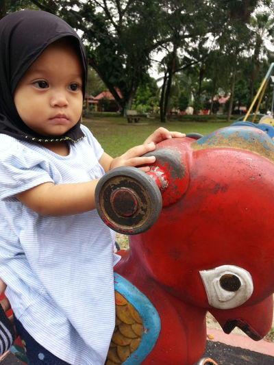 Childhood One Person Playground Child Day Outdoors Portrait Tree People Children Only Close-up Playgarden Playgrounds Tamantasik TamanJaya Selangor Malaysia
