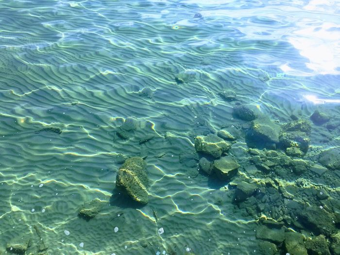 A beautiful natural pattern Beauty In Nature Calm Water Calm Waves Clear Water Day Full Frame High Angle View Nature No People Outdoors Pattern Sand Sand Pattern Sand Pattern Sea Beach Nature Sand Patterns Sandy Beach Sea Shallow Sunlight Transparent UnderSea Underwater Water Waterfront Waves