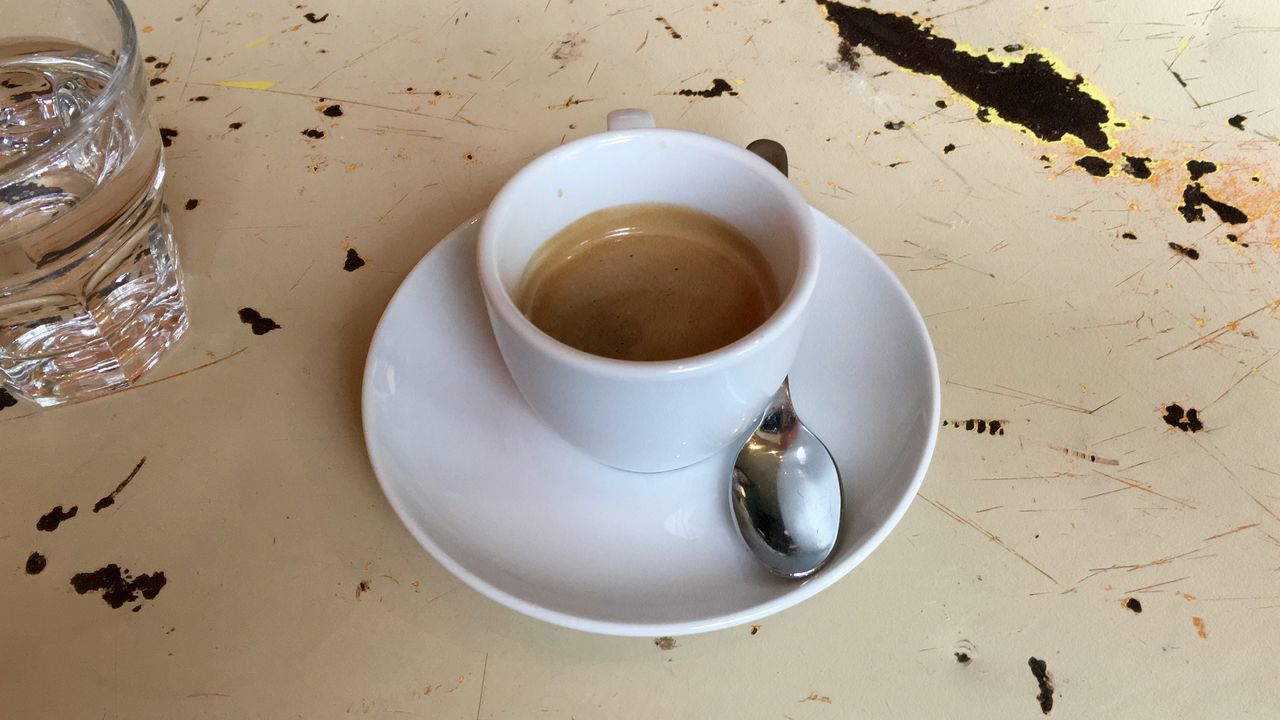 drink, food and drink, refreshment, coffee cup, saucer, table, high angle view, coffee - drink, leftovers, freshness, plate, no people, indoors, food, healthy eating, close-up, day