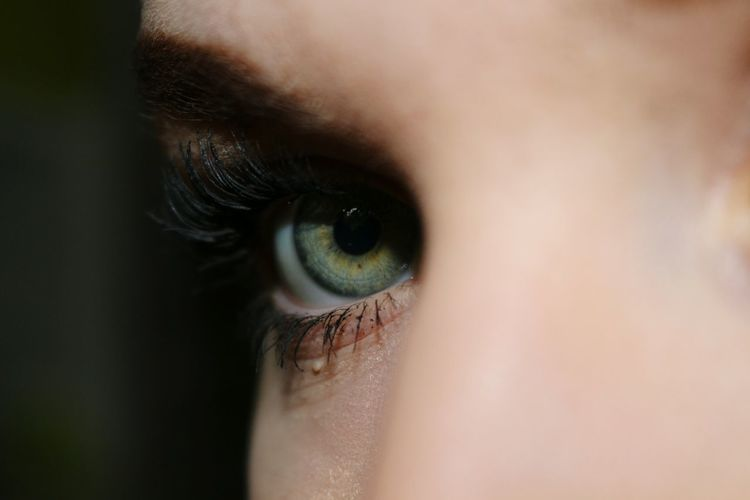 Close-up portrait of woman eye