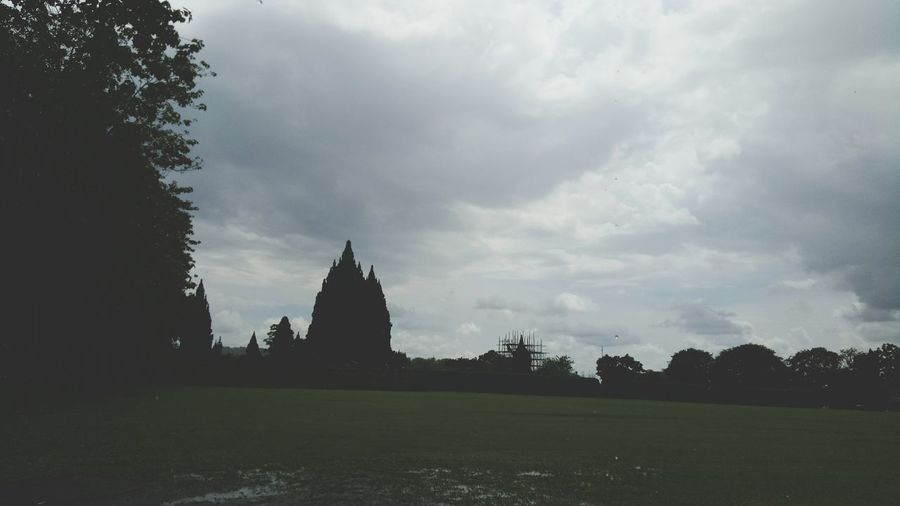 Cloudy atmosphere in the prambanan temple . Cludy Sky History Travel Destinations Architecture EyeEm Best Shots Eyeam Select EyeAmNewHere Black And White Outdoors Day Featured On Eyeem