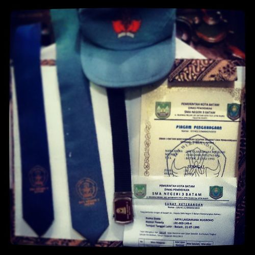 This is the ticket to the future!!! Graduation Certificate School Sma3batam instagram instamood