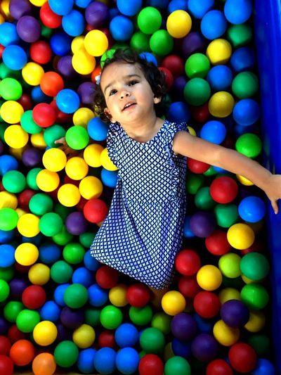 Mybaby❤ Kids Balls Colors Rainbow Gilr Princess Luiza Smille Happy