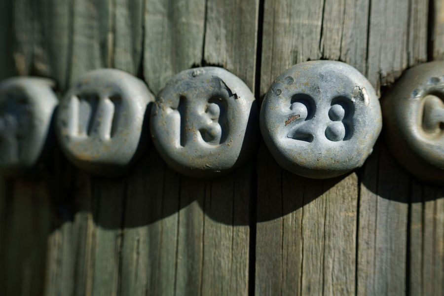 Math Corrosion Typography Weathered Administration Close-up Day Markings Metal No People Numbers Outdoors Pole Series Wood - Material