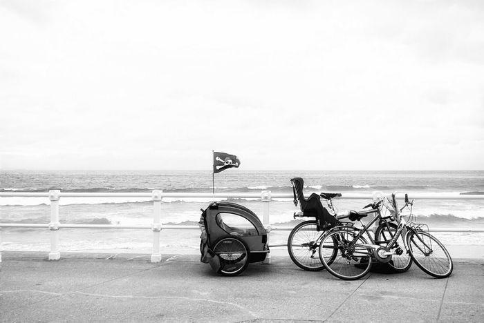 Pirates in Gijón...... Minimalobsession Bike Shades Of Grey Asturias Mi Serie Gijón Streetphotography Mi Serie Minimal