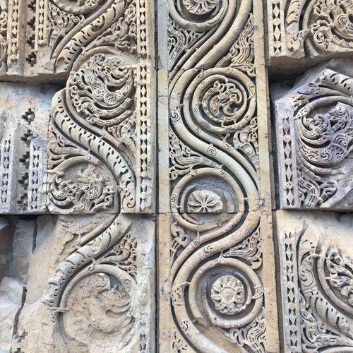 Full frame shot of ornate sculpture