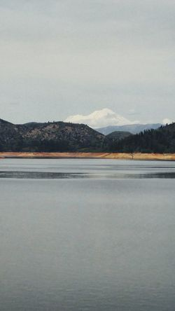 Shasta Lake Water Landscape No People Sky Nature Mt Shasta