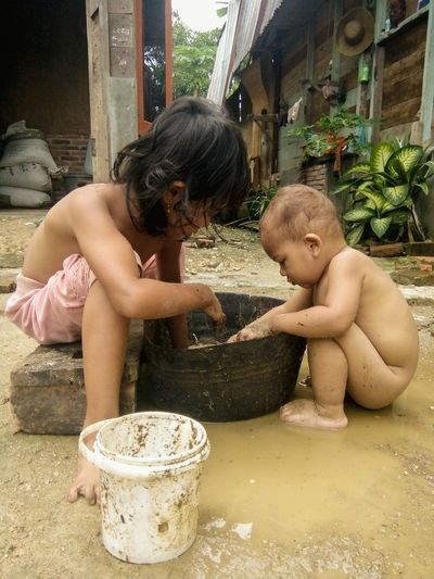 children generation kresi Childhood People Two People Baby Togetherness Water Sitting Outdoors Human Body Part