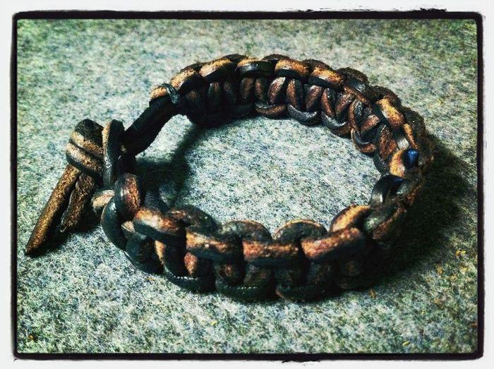 Paracord Bracelet Leather-style