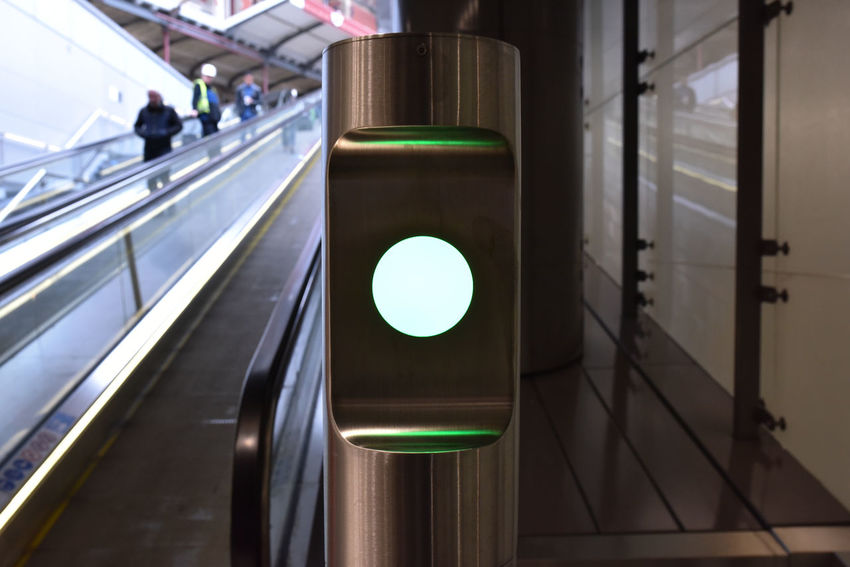 Access Allowed Escalator Going Up Green Lantern  Green Light Metro Staircase Station Train Station EyeEmNewHere Neon Life Your Ticket To Europe