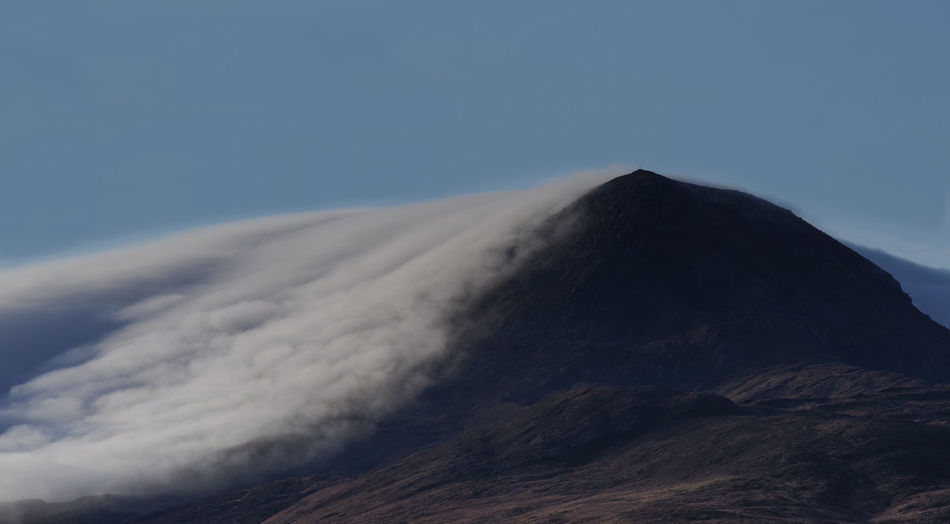 Mountain covered with clouds Ireland Photographs, Muckish Donegal Ireland Donegal Mountain, Mountain Photographs Mountain With Clouds, Mountain With Cross,