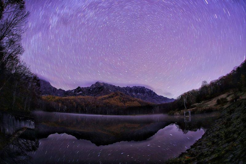 確かに撮った📷どこまでが写真なんだろ?😅 銀河鉄道の夜♪ 一目惚れんず Astronomy Galaxy Space Milky Way Astrology Sign Star - Space Constellation Tree Mountain Star Trail