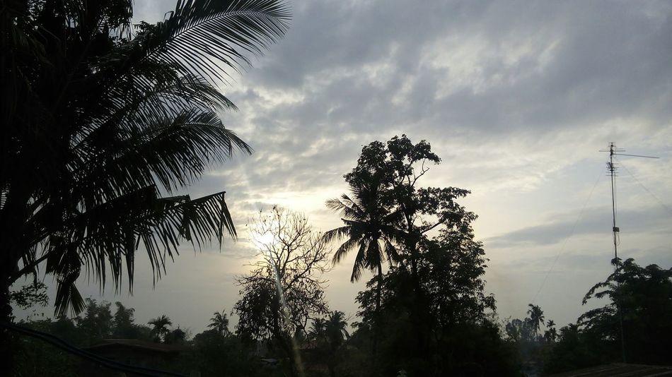 Good morning . Hello World Sunlight Mornings The Moment - 2015 EyeEm Awards Open Edit Sun Sisaket,thailand Sky And Clouds