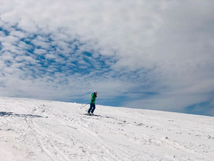 Sky Cloud - Sky One Person Snow Winter Real People Leisure Activity