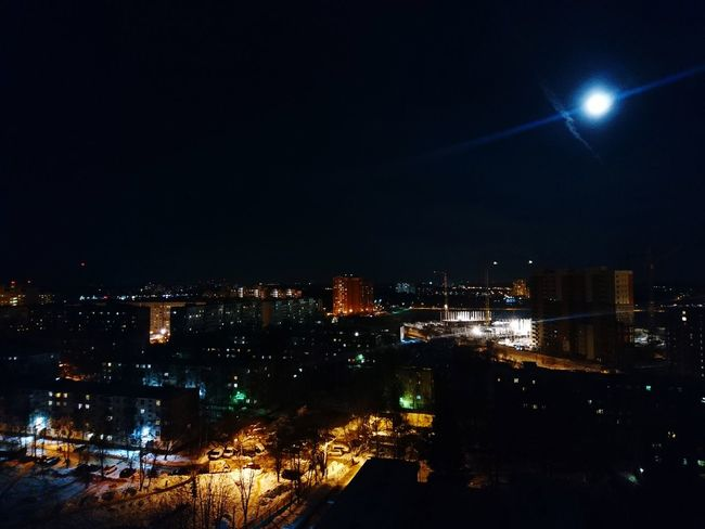 Under blue moon i saw you.. Night City Frostyweather Citylights Cityscape Fullmoon EyeEm Best Shots EyeEmNewHere Eye4photography  Frommywindow House Home Sweet Home