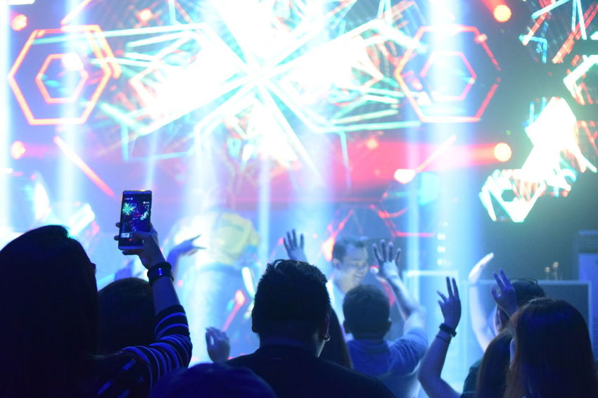 Party! Music Crowd Popular Music Concert Arts Culture And Entertainment Nightlife Event Stage - Performance Space Music Festival Stage Light Events Photography Arms Raised Lowlight Photography Concert Photography